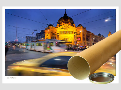 Modern-Gallery-Melbourne-CITY-IN-MOTION-Postal-Tube-Photography-by-Michael-Collins-for-Visual-Resource