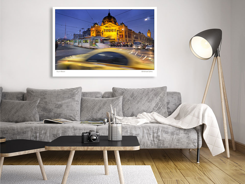 Photography Wall Art : CITY IN MOTION : Flinders St Melb VR SHOP