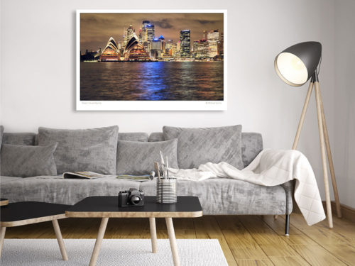Modern-Gallery-Sydney-OPERA-HOUSE-SKYLINE-wall-art-photography-by-Michael-Collins-for-Visual-Resource