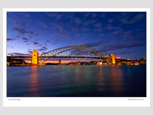 Modern-Gallery-Sydney-SUNSET-BRIDGE-photography-by-Michael-Collins-for-Visual-Resource