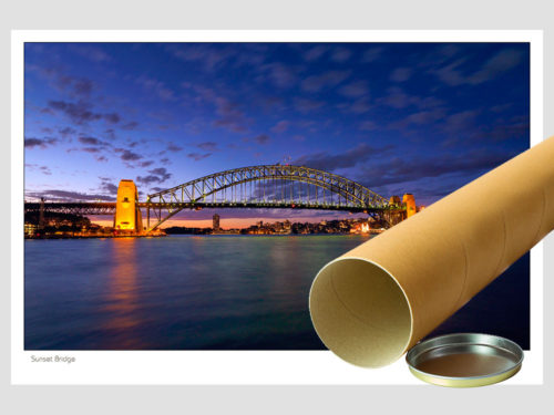 Modern-Gallery-Sydney-SUNSET-BRIDGE-postal-photography-by-Michael-Collins-for-Visual-Resource